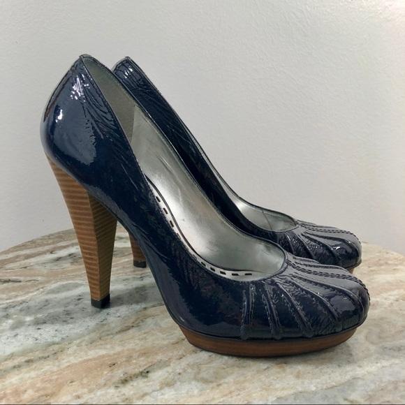 b9264181a2 Gianni Bini Shoes | Navy Blue Pumps Size 85 Patent | Poshmark
